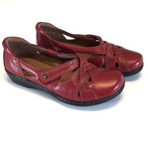 Clarks Collection Red Woven Top Loafer Flats 7.5